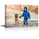 SIGNFORD Custom Canvas Prints, Child Pets Personalized Poster Wall Art with Your Photos Wood Frame Digitally Printed - 11'x14'