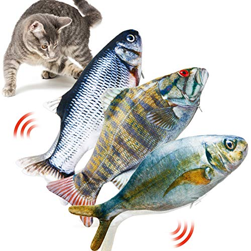 3-Pieces-Electric-Moving-Fish-Cat-Toy-Realistic-Flopping-Fish-Plush-Simulation-Electric-Wagging-Fish-Cat-Toy-Catnip-Kicker-Toys-Fun-Toy-for-Cat-Exercise-for-Cat-Kitten-Kitty