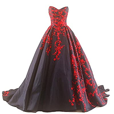 Strapless v neck A line long skirt with court train, Black satin, Vintage, Beaded Lace, Lace up back, Corset. This dress needs a 1-2 hoop(s) petticoat This is a custom made dress even if standard size. Please find a soft tape to measure yourself and ...