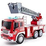 HERSITY Camion de Pompier Enfant Jouet Sonore et Lumineux avec L'échelle...