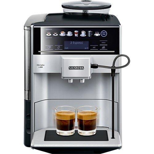 Siemens EQ.6 plus s300 Kaffeevollautomat TE653501DE, Speicherung Profile, Dampf-Reinigung, Doppeltassen-Funktion, 1.500 Watt, silber