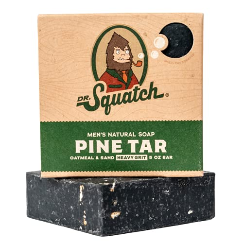 Dr. Squatch Pine Tar Soap – Mens Soap with Natural Woodsy...