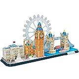 CubicFun Puzzle 3D UK London Tower Bridge Big Ben City Skyline Bricolage...