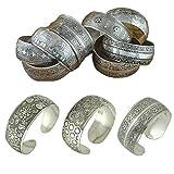 Stainless Steel Charms Mix 4pcs Factory Wholesale Tibetan Jewelry Vintage Silver Bangles Antique Tibetan Silver Cuff Bracelets