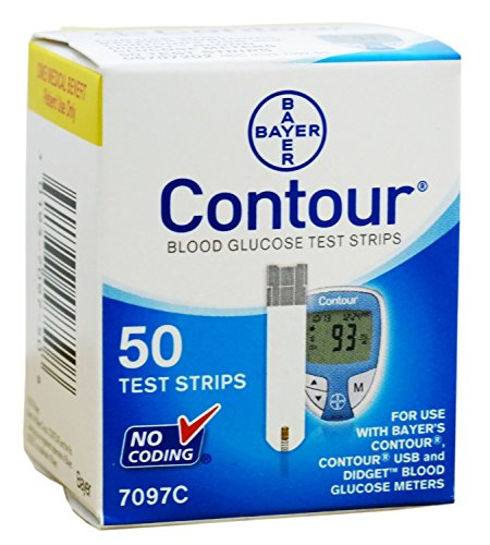 CONTOUR B/G TEST STRIPS 50