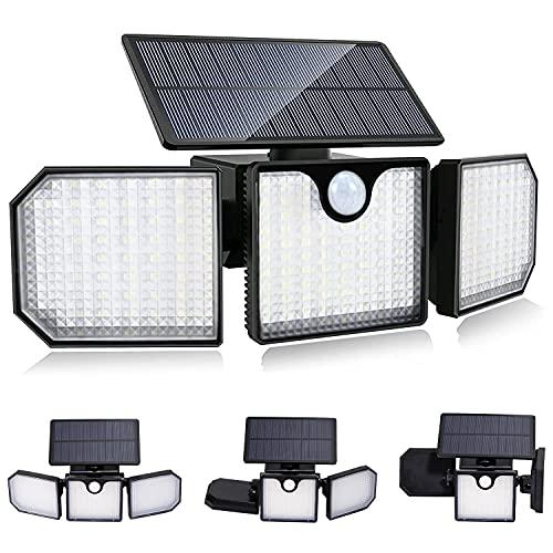 Luce Solare LED Esterno Elekin IP65 Faro Led Esterno con Pannello Solare 230 LED Faretto Led da Esterno Solare con Sensore di Movimento 2200mAh 270Regolabile Luci Solari Esterno per Giardino Parete