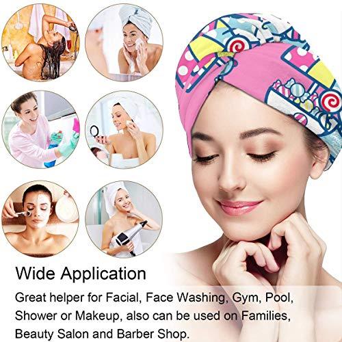 Hair Towel Wrap Turban Hello Kitty Baby Shower Microfiber Drying Bath Shower Head Towel With Button, Dry Hair Hat