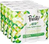 Marque Amazon - Presto! Papier toilette 3 épaisseurs - ECO - Lot de 36 (4...