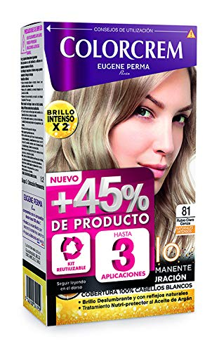 Colorcrem - Tinte permanente mujer - tono 81 Rubio Claro Cen