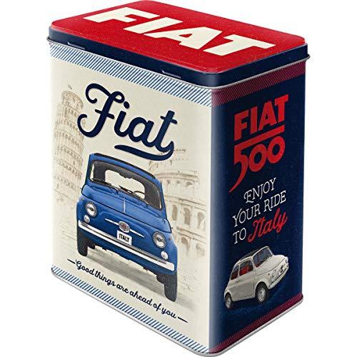 Nostalgic-Art Retro Vorratsdose L FIAT 500 – Good Things – Geschenk-Idee für Auto-Fans, Große...