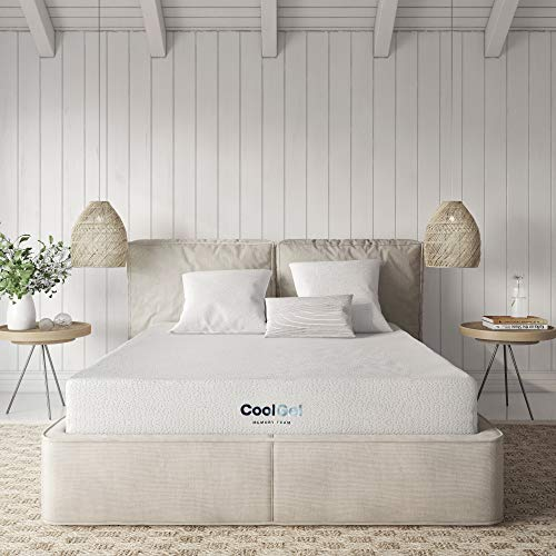 Classic Brands Cool Gel Bed Mattress Conventional, Twin, White