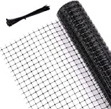 Ohuhu 6.6 X 65 FT Heavy Duty Bird Netting for Garden, PP Material Anti-Bird Reusable Garden Nets for...