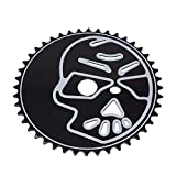 Fenix Skull Head Bike Sprocket/Chainring, 44T 1/2 X 1/8 Black/White