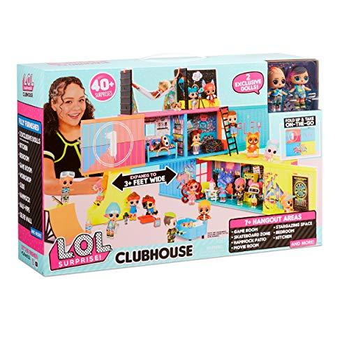 Image 5 - LOL Surprise Clubhouse. Maison de poupée, 40 surprises et plus. 2 poupées exclusives, 7 espaces, cuisine, chambre, terrasse, salle de jeux et encore! Meubles et accessoires. Pour fille de 4ans et plus