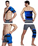 Koo-Care Large Flexible Gel Ice Pack & Wrap with Elastic Straps for Hot Cold Therapy - Great for Sprains, Muscle Pain, Bruises, Injuries - 11' x 14')