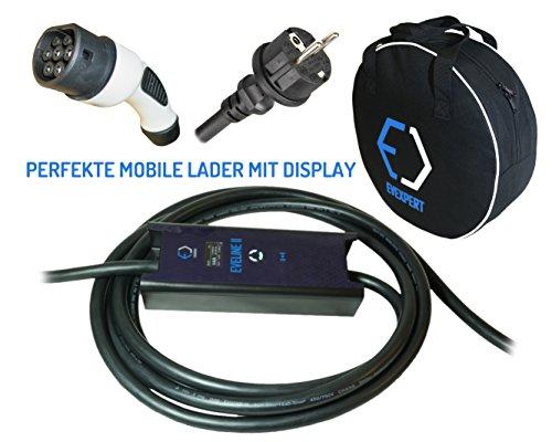 Cargador portátil inteligente Evse, tipo 2, enchufe Schuko (Mennekes), 16A, 1 fase, 5m, 3,7kW
