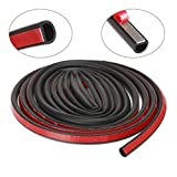 GreatBBA Large D-Shape Rubber Car Auto Door Seal Weather Stripping, Self-adhesive Hollow Sealing Strip for Noise Insulation (16.4 Feet)