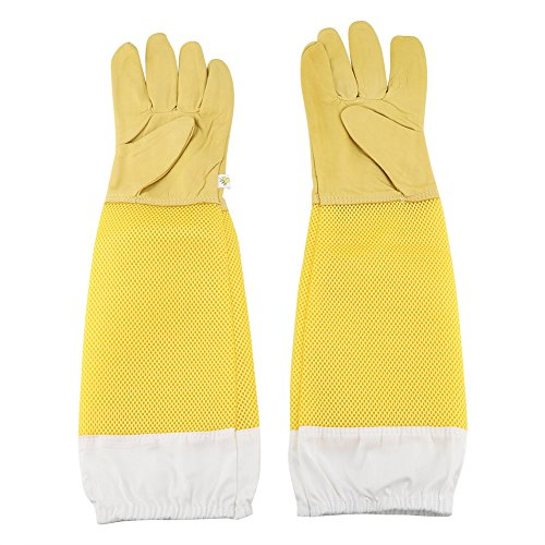 Zerodis Guanti di alta qualità in pelle di capra grande resistente Un paio di guanti protettivi in...
