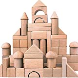Wooden Building Blocks Set for Kids - Stacker Stacking Game Construction Toys Set Preschool Colorful...