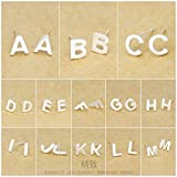 Davitu Earrings - 1pair 925 Sterling Silver Matte 26 Letters Alphabet Earrings Stud 1Pair Plain...