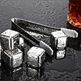 Ice Cubes Whiskey Stones – Reusable Stainless Steel Whiskey Stones – Chilling Stones for Your...