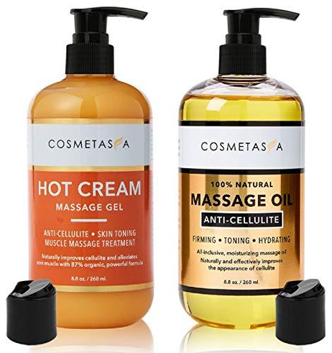 Anti-Cellulite Massage Oil & Hot Cream - 100%...