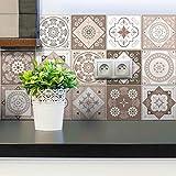 15 Stickers muraux Cuisine - Sticker Mural - Carreaux de Ciment adhésif Mural -...