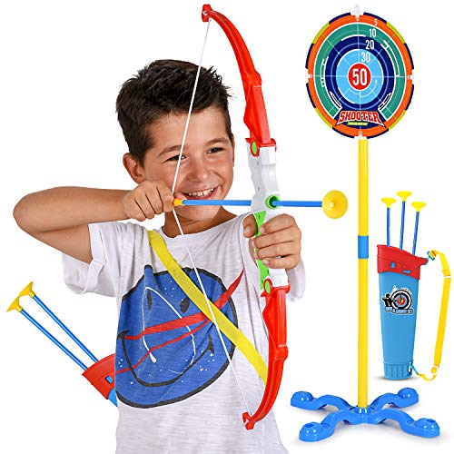 Toy Bow And Arrow For Kids Practice Toy Archery Set Target Stand Quiver Bow And 3 Arrows Safe And Durable Fun A To Z Trending Products Shopping Hand made jewelry custom pieces available. a to z trending products shopping
