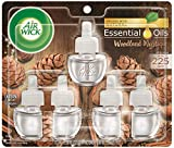 Air Wick Plug in Scented Oil 5 Refills, Woodland Mystique, Holiday scent, Holiday spray, (5x0.67oz), Essential Oils, Air Freshener