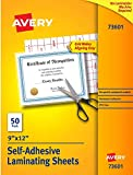Avery Self-Adhesive Laminating Sheets, 9 x 12 Inch, Permanent...