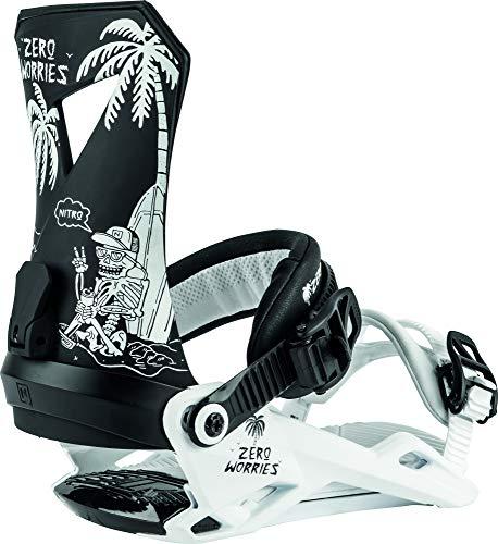 Nitro Snowboards Herren 20 all Mountain Freestyle gnstig Bindung Snowboardbindung, Attacco per...