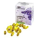 Olio di Lavanda 500 mg, 40 capsule, Integratore naturale Anti Stress e Ansia, naturale et puro al 100%, olio Estratto da macerazione a freddo
