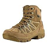 FREE SOLDIER Stivaletti tattico Mid High Rise Scarpe da Trekking Invernali Stivali in Pelle, Uomo, Wolf Brown, 44