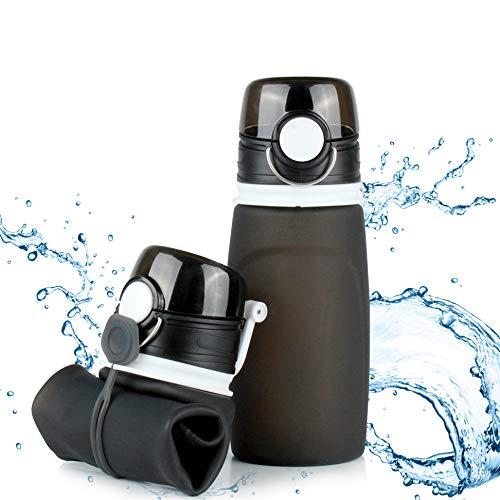 TROIKA | Bouteille en silicone pliable | Capacité : 550 ml | enroulable et...