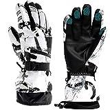 Ski Gloves, Snow Winter Gloves Warm Touchscreen Gloves Waterproof Outdoor Motorcycle Gloves (Medium)