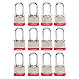 Lion Locks 5PLS Keyed-Alike Padlock, 1-9/16-inch Wide 2-inch Shackle, 12-Pack