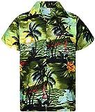 V.H.O. Funky Chemise Hawaiienne, Surf, Vert Foncé, XL