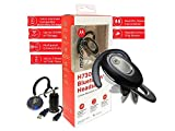 New Model - Motorola H730 Flip Bluetooth - Noise Canceling - Dual Mic- Wireless Headset Alexa,Siri Enabled with Tracker Car Charger (Retail Packing Kit)