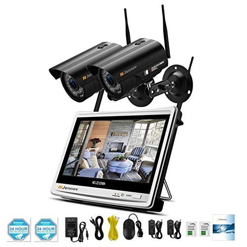2CH 1080P 2MP Kit di videosorveglianza Wireless LCD NVR Telecamera di Sicurezza Esterna Telecamera IP CCTV WiFi Set HD P2P,1080P2MP,2PcsCams