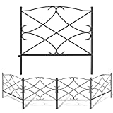 Amagabeli Decorative Garden Fence 24in x 10ft Outdoor Rustproof Metal Landscape Wire Fencing Folding...