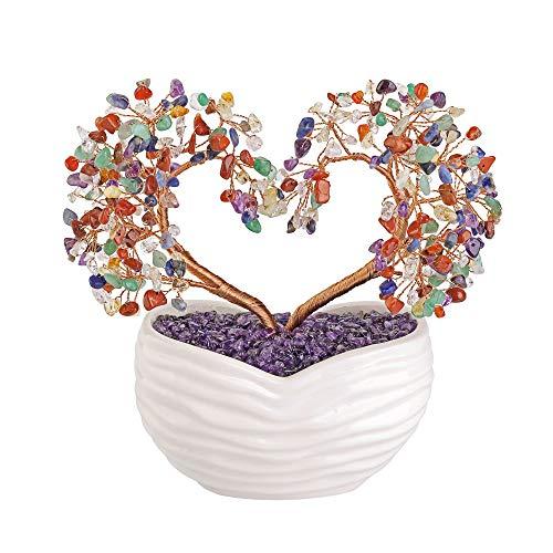 Jovivi 7 Chakra Healing Crystal Heart Money Tree Healing...