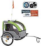 Fischer86388 Remorque de vélo pour Enfants Confort avec Suspension certifié...