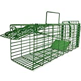 Kat Sense Humane Squirrel Trap, Cage Traps for Weasels, Large Rats & Small Animals , Live Catch & Release 2 Door Trap That Works, Outdoor _ Indoor