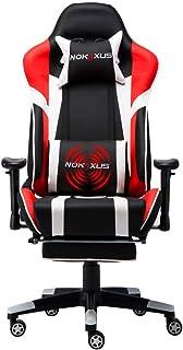 Nokaxus Gaming Chair Large Size High-Back Ergonomic Racing Seat with Massager Lumbar..