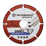 OKDIAMOND Metalmax Diamond Grits Cut Off Wheel 4 1/2 Inch for Metal Cutting Blade for Angle Grinder-4.5'