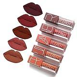 5 Colors Matte Lipstick Set,...