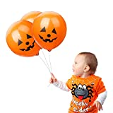 Halloween Balloons, 100pcs 12 Inches Ultra Thickness Pumpkin Latex Balloons for Happy Halloween's...