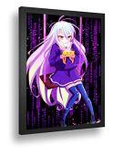 Áp phích khung trang trí no game no life shiro anime girl