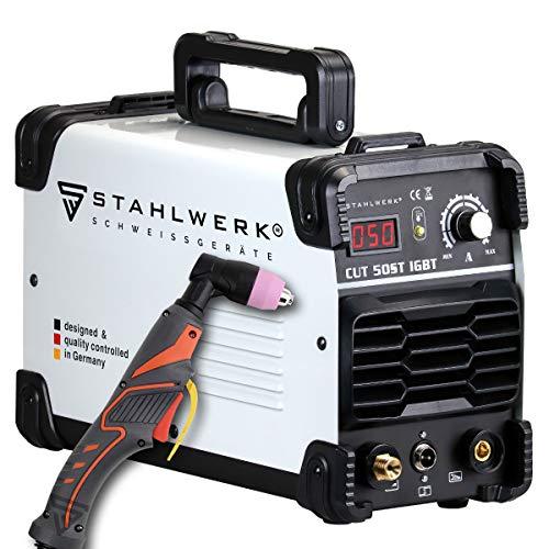 STAHLWERK CUT 50 ST IGBT Plasmaschneider mit 50 Ampere, bis 14mm Schneidleistung, für Lackierte Bleche & Flugrost geeignet, 7 Jahre Herstellergarantie