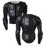 WILDKEN Veste Armure Moto Blouson Motard Gilet Protection Équipement de Moto Cross Scooter VTT Enduro Homme ou Femme (Noir, xx_l)